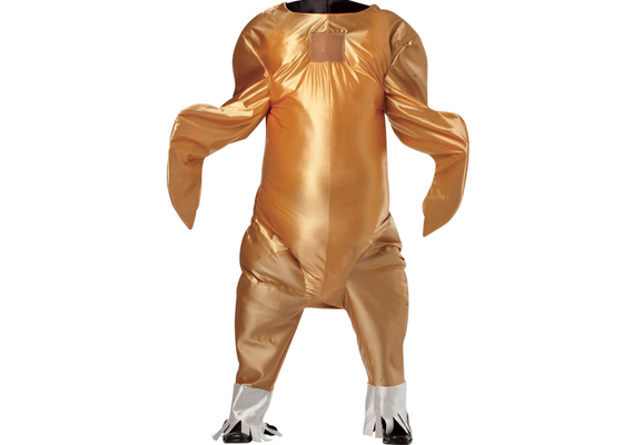 The most realistic turkey costume you've ever seen, complete with face flap.