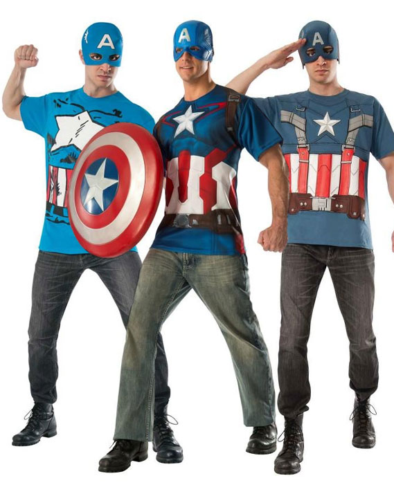 Captain America T-shirts costumes