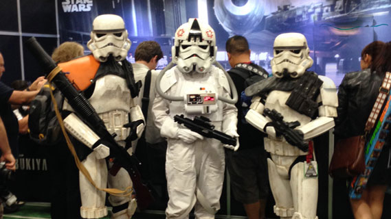Stormtrooper cosplayers at Comic-Con 2014