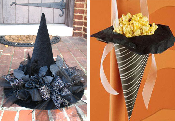 Witch hats can even be made into fabulous caramel corn cornucopias a