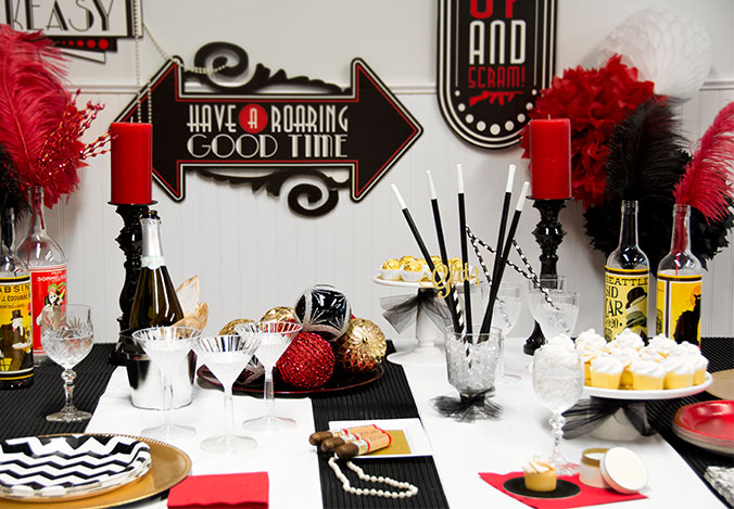 1920s party supplies gangster themed party 1920s party for 1920s decoration ideas