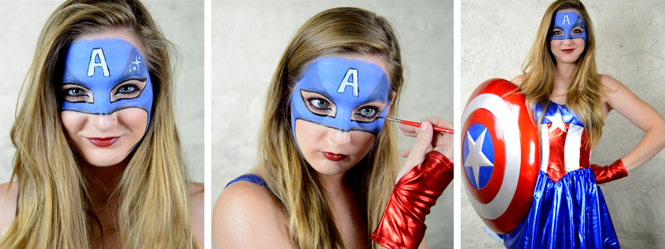 Captain Miss America Makeup Tutorial By Elsa Rhae - Halloween Costume Ideas