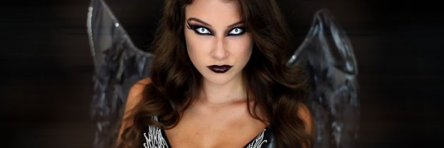 Dark Angel Halloween Makeup Tutorial by Kelly Marie