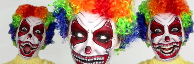 Scary Clown Halloween Makeup Tutorial by BeautifulYouTV