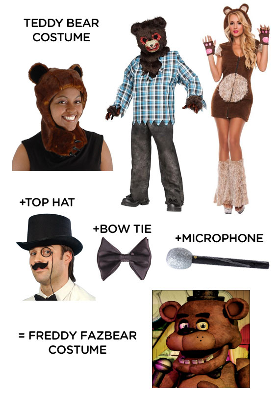 Nights at freddy s costume idea how to make a freddy fazbear costume